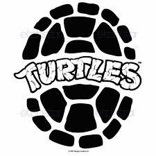 teenage mutant ninja turtle black white clipart clipartfest