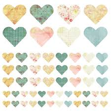 fabric heart wall stickers by spin collective notonthehighstreet com fabric heart wall stickers