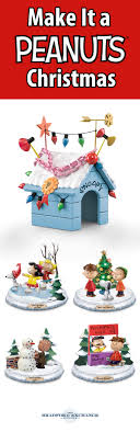 brown christmas snoopy dog house peanuts merry christmas sculpture collection brown