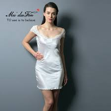 Honeymoon Nightgowns Meidaifen New Model Nighties Women Silk Sleepwear Satin Nightgowns