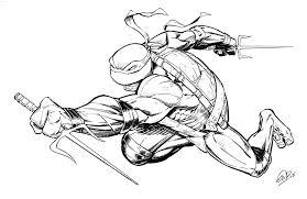drawn turtle ninjas pencil and in color drawn turtle ninjas