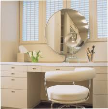 gold makeup mirror with round mirror powder room contemporary and
