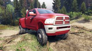 Dodge 3500 Truck Tires - dodge ram 3500 dually v1 1 red for spin tires