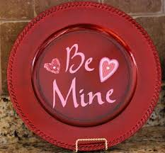Valentine S Day Plates Decor by 43 Best Charger Plates Images On Pinterest Valentine Ideas