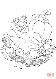 thanksgiving food coloring page free printable coloring pages