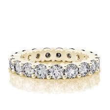gold diamond wedding band 3 80 ct eternity diamond wedding band in 18k white gold si h i