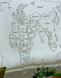 Decorative World Map My World Wooden World Map Day3dream Com