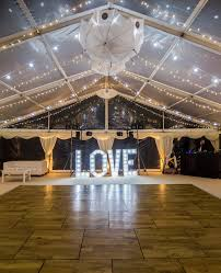stunning clear roof marquee ready for the wedding