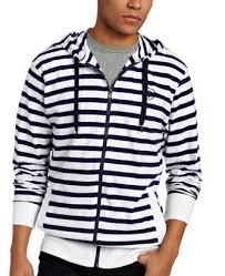 black and white striped hoodie men hardon clothes