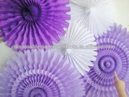 tissue paper fans tissue paper fans paper rosettes lavender purple white tissue fans
