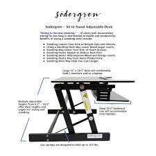 Adjustable Desk Standing Sitting by Amazon Com Sodergren Height Adjustable Sit Stand Desk Laptop