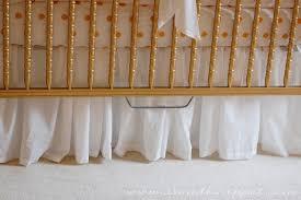 adjustable ruffled crib skirt a small snippet