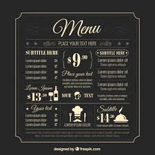 photoshop menu template 50 free food restaurant menu templates xdesigns