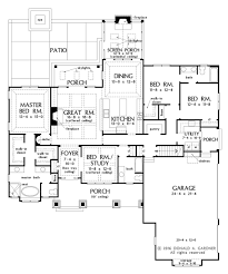 craftsman floor plans craftsman style house plan 4 beds 3 baths 2239 sq ft plan 929