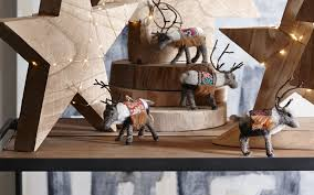 Roost Home Decor Arctic Caribou Ornaments By Roost Set Of 4 U2013 Burke Decor