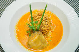 cuisine by region khao soi local food from region of stock photo