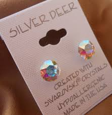 s hypoallergenic earrings hypoallergenic earrings lead and nickel safe swarovski elements ab