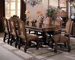 neo renaissance double pedestal dining room set by crown mark