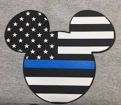 Mickey Mouse Flag Mouse Inspired Thin Blue Line American Flag Tanks And Tshirts