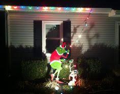 grinch christmas lights standing grinch stealing lights handmade wood yard display 48