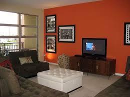 like bedroom dark orange accent wall living room den ideas