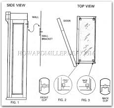howardmiller mount wall hangin cherry display cabinet vancouver 685100
