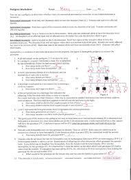 pedigree worksheet answers to pedigree worksheet books worth