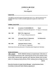 Job Resume Outline by Great Objectives For Resumes 4 Good Objective Resume Samples