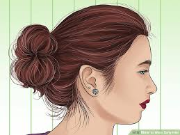 different hair buns 3 ways to wear hair wikihow