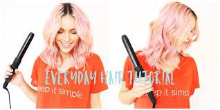 medium length hairstyle tutorials medium length beachy wavy hair tutorial pastel hair alexis