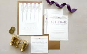 modern art deco wedding lilliput design studio