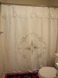 Battenburg Lace Kitchen Curtains by Battenburg Lace Shower Curtain 84 Cute Interior And Amazoncom