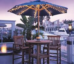 patio umbrella lights solar powered landscaping gardening ideas