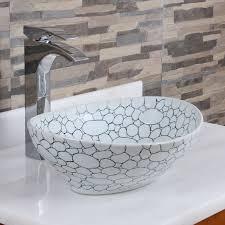 oval cobblestone pattern porcelain ceramic bathroom with ceramic