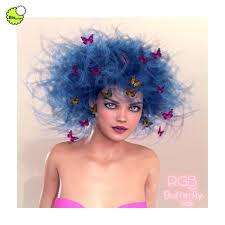 butterfly hair biscuits rgb for butterfly hair hair for poser and daz studio