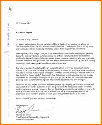 6 examples of letter of recommendation resume reference