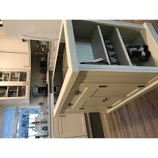 kitchen island with drop leaf breakfast bar gracewood hollow adrian distressed white board kitchen island with