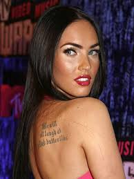 megan fox rib tattoo tatto design body painting hairstyle