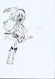 with a bow and arrows by kazumaxayano on deviantart