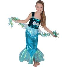 girls halloween costumes mermaid beauty girls u0027 halloween costume walmart com