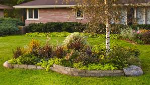 unique front yard island design front yard landscaping massapequa