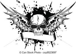 skull with wings 2 vector image skull with wings and vectors