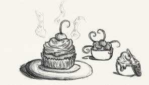 red velvet cupcake sketch by amielthegreat on deviantart