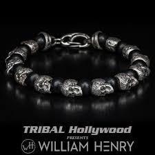 sterling bangle bead bracelet images Mens sterling silver bracelets tribal hollywood jpg