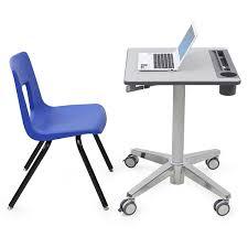 Ergotron Sit Stand Desk Ergotron 24 547 003 Sit Stand Student Desk For Classrooms