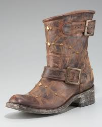 brown leather moto boots old gringo stitched motorcycle boot in brown lyst