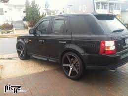black land rover with black rims land rover range rover sport niche milan m134 wheels black