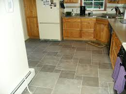 kitchen flooring tiles ideas big and small gray square tile kitchen floor plus brown wooden