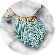 necklace jewelry australia images Tassel necklace fabulous fringe tiff teal blue unique art jpg