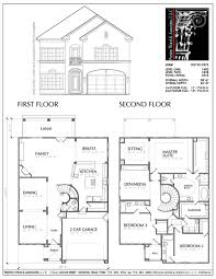 Rooftop Deck House Plans 4 Bedroom 2 Story Home Plans Two House Endearing Storey Plan With